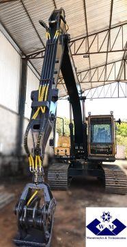 Adequação da Escavadeira Hyundai 180LC para Carregador Florestal